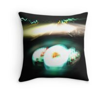 Driving through time Throw Pillow