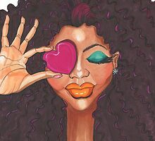 Loving Me Fashion Illustration  by AWincyGlassNDes