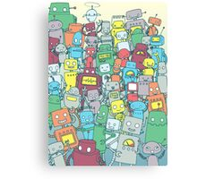 Robot Party Canvas Print