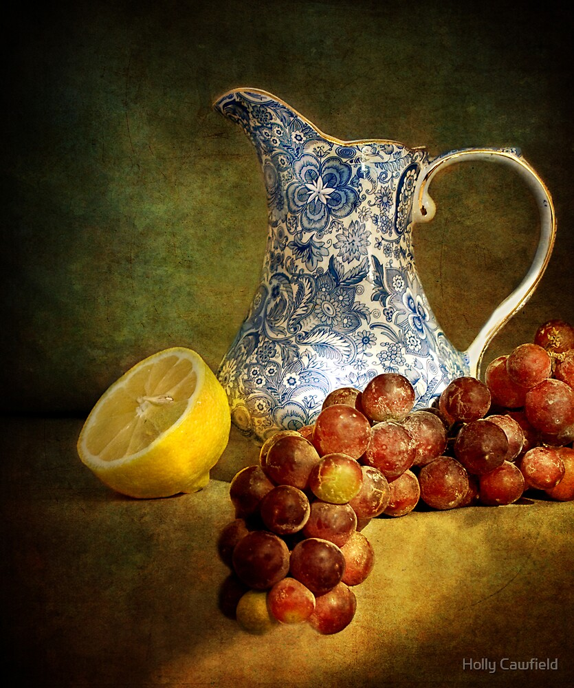 Pitcher With Fruit by Holly Cawfield
