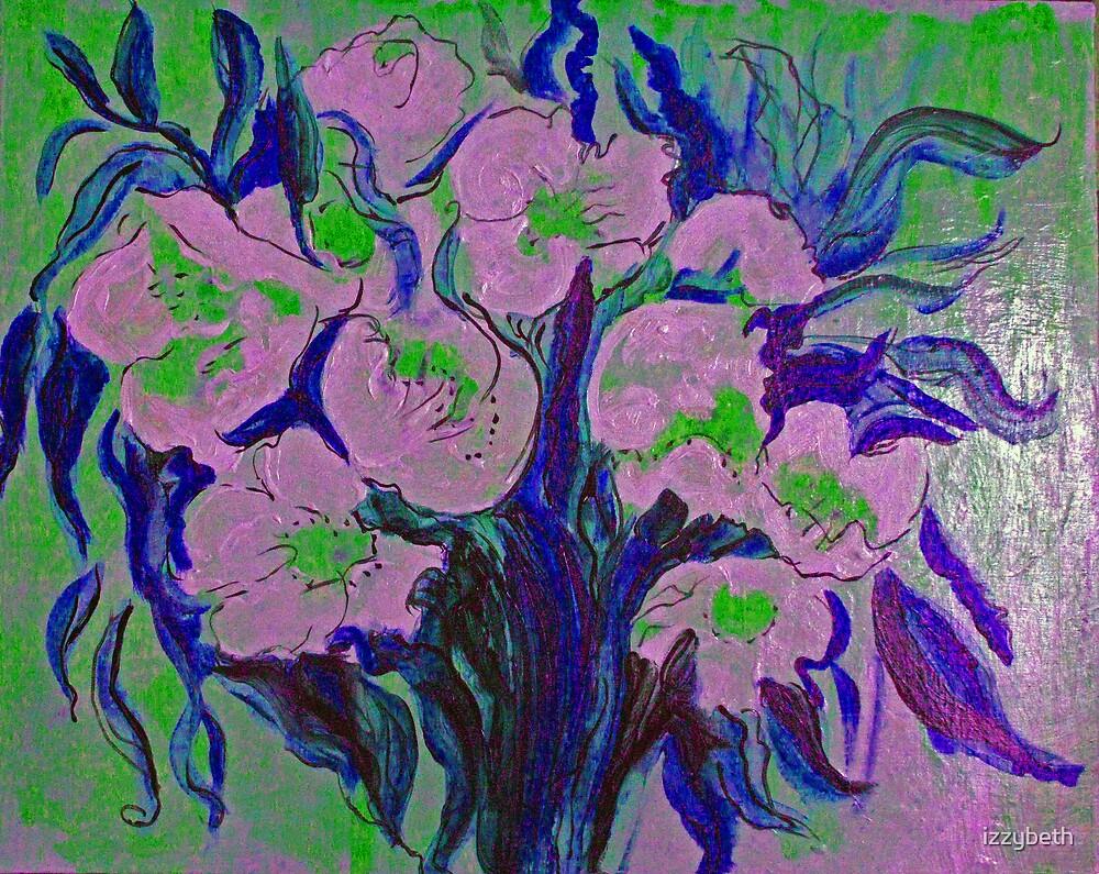 Frida's Blue-Leaf Flowers by izzybeth
