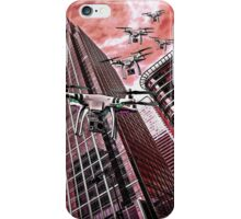 Red swarm over Canary Wharf by #fftw iPhone Case/Skin