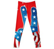 American Patriotic Victory Peace Hand Fingers Sign Leggings