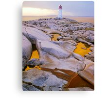 Three Golden Pools Canvas Print