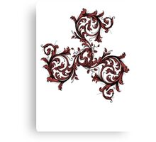 Alpha Filigree Triskele Canvas Print