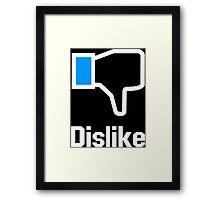 Dislike Funny Geek Nerd Framed Print