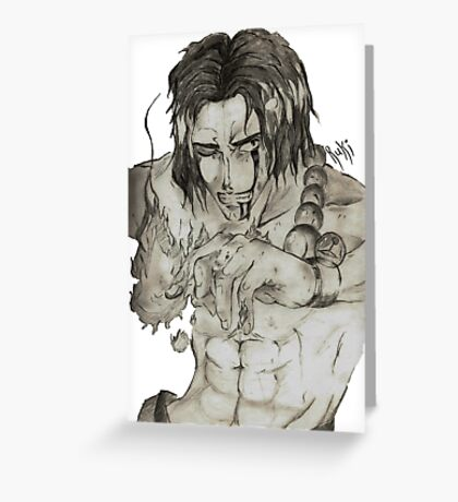 Portgas D. Ace Greeting Card
