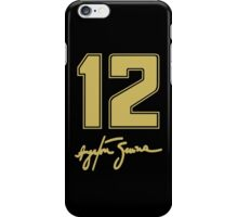 Ayrton Senna #12 from his 1986 Lotus 98T iPhone Case/Skin