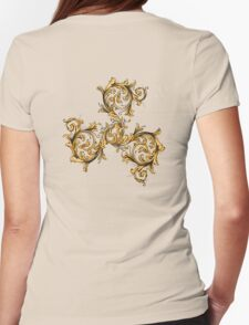 Beta Triskele Filigree Womens Fitted T-Shirt