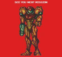 Samus Aran - Super Metroid - See You Next Mission Kids Clothes