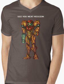Samus Aran - Super Metroid - See You Next Mission Mens V-Neck T-Shirt