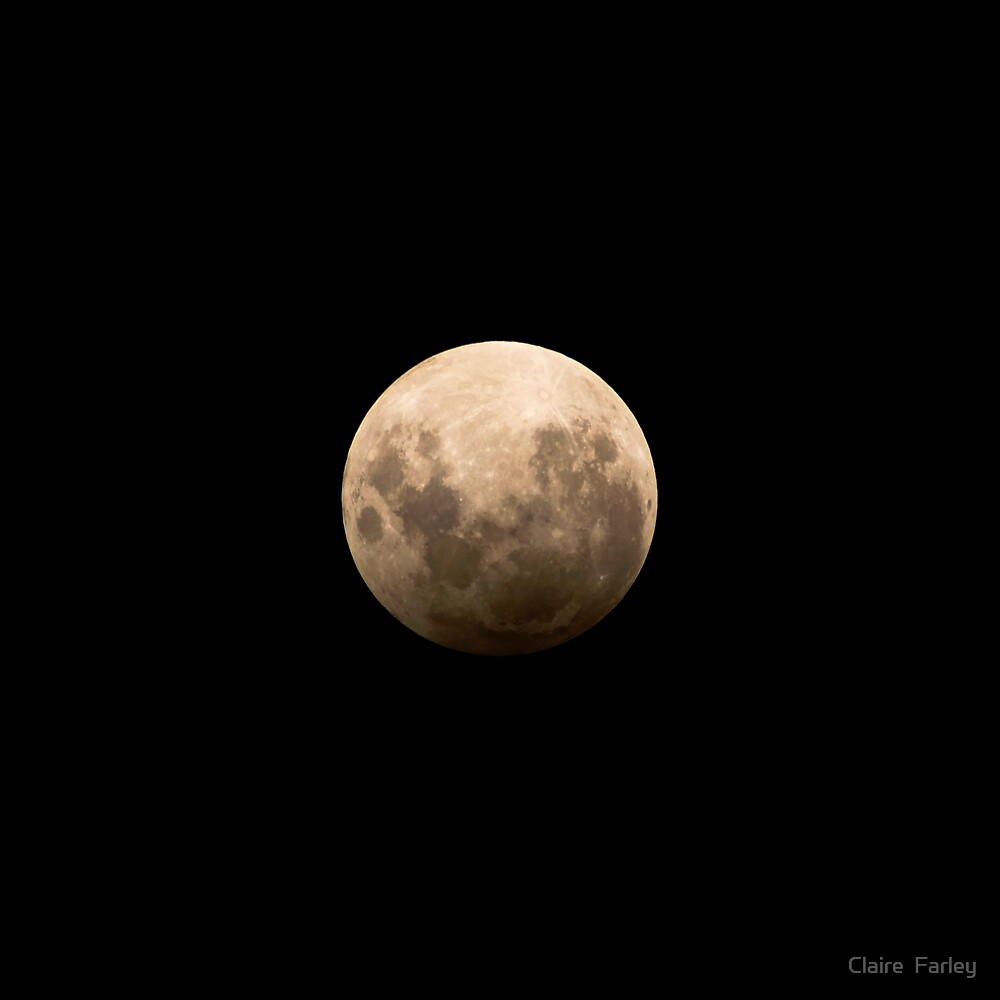 Partial Lunar Eclipse by Claire  Farley
