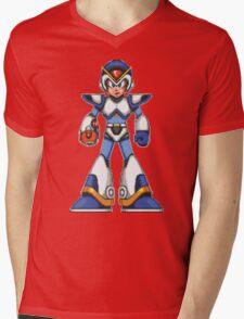 Mega Man X - Light Armor Mens V-Neck T-Shirt