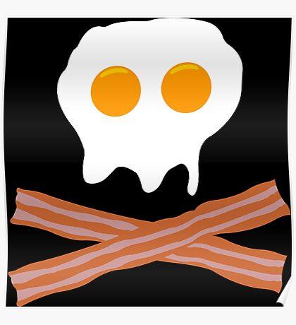 Eggs Bacon Funny Geek Nerd Poster