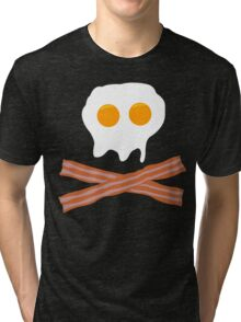 Eggs Bacon Funny Geek Nerd Tri-blend T-Shirt