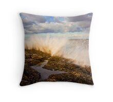 Northumberland Coastline Throw Pillow