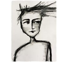 Her head could not contain her thoughts.... Photographic Print