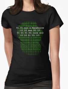BINARY HUMOUR Womens Fitted T-Shirt