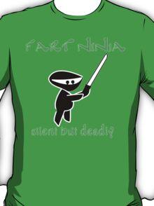 Fart Ninja Silen But Deadly Funny Geek Nerd T-Shirt
