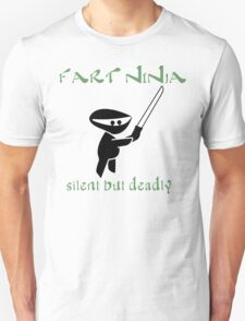 Fart Ninja Silen But Deadly Funny Geek Nerd T-Shirt
