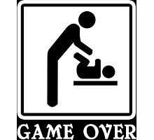 Game Over Funny Geek Nerd Photographic Print