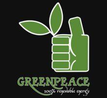 Greenpeace 100 Renewable Energy Funny Geek Nerd by utomo