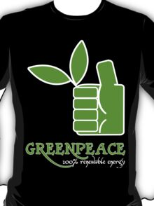 Greenpeace 100 Renewable Energy Funny Geek Nerd T-Shirt