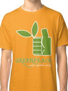 Greenpeace 100 Renewable Energy Funny Geek Nerd Classic T-Shirt