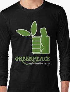 Greenpeace 100 Renewable Energy Funny Geek Nerd Long Sleeve T-Shirt