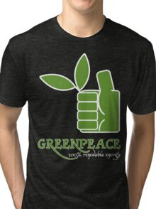 Greenpeace 100 Renewable Energy Funny Geek Nerd Tri-blend T-Shirt