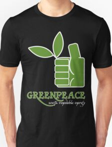 Greenpeace 100 Renewable Energy Funny Geek Nerd Unisex T-Shirt