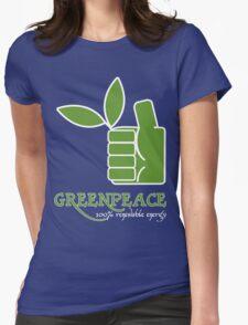 Greenpeace 100 Renewable Energy Funny Geek Nerd Womens Fitted T-Shirt