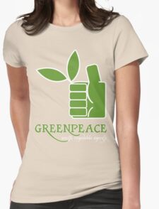 Greenpeace 100 Renewable Energy Funny Geek Nerd Womens Fitted T-Shirt