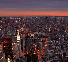 New York City at Sunset by David Watts