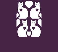 Cats and Hearts (Lavander) Unisex T-Shirt