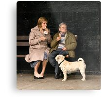 Candid at picnic in the park Metal Print