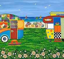 Caravan Holiday no. 1 by Lisa Frances Judd~QuirkyHappyArt