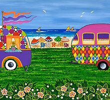 Caravan Holiday no. 2 by Lisa Frances Judd~QuirkyHappyArt