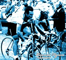 Laurent Fignon and Bernard Hinault by Yngve Andrei Skarphedinsson