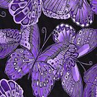 Purple and Black Butterfly Pattern by HavenDesign