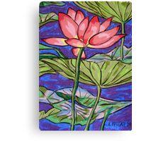 Lily/Lotus - in oil pastel Canvas Print