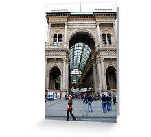 Galleria Milano Greeting Card