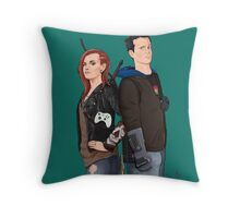 Hex and Bajo Throw Pillow