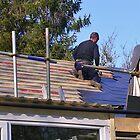 Roofer At Work by lezvee