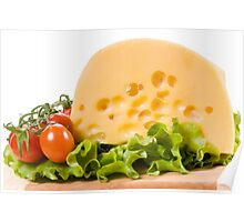 cherry tomatoes and yellow cheese Poster