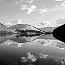 loch of the lowes (b&w) by dinghysailor1