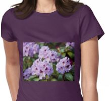 Rhododendron called Azalea purple flowers Womens Fitted T-Shirt