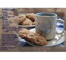 Grandma's Coffee Cookies (recipe) Photographic Print