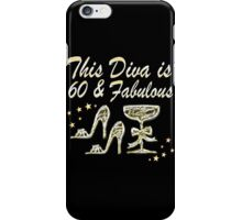 SILVER SPARKLING 60 AND FABULOUS iPhone Case/Skin