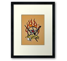 Hell's Bells tattoo Framed Print